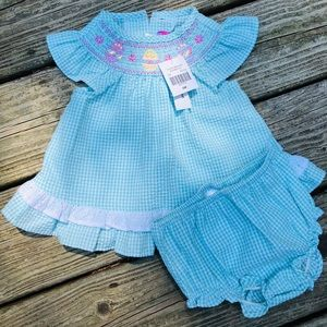 Other - Smocked Easter Dress with Matching Bloomers